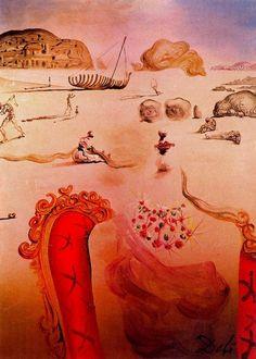 Paranoia (Surrealist Figures), 1944 by Salvador Dali, Classic Period Surrealism. Salvador Dali Gemälde, Salvador Dali Paintings, Dali Artwork, Collage Artwork, Pierre Auguste Renoir, Spanish Artists, Magritte, Land Art, Surreal Art
