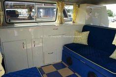 T25 camper interior.  White laquer