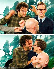• my gifs the hobbit peter jackson interview fili kili oin dwalin bifur bombur bofur dori nori ori aidan turner William Kircher James Nesbitt Graham McTavish Adam Brown Dean O'Gorman the-way-im-feeling •