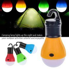 Portable En Plein Air Suspendus Tente Camping Lumière Douce Lumière LED Ampoule Lampe Étanche Lanternes Nuit Lumières Alimenté Par 3 * AAA batterie