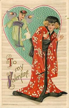 Vintage Valentine Day Postcard