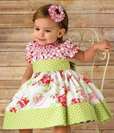 Items similar to Girls Peasant Dress Zinnia. Mom Dress, Baby Dress, Pink Dress, Toddler Fashion, Kids Fashion, Vogue Kids, Little Girl Dresses, Girls Dresses, Valentines Outfits