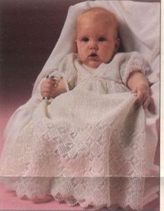 A Beautiful Crochet Vintage Christening Gown in PDF by Adawnstyle, $5.50