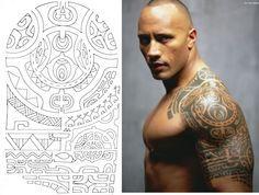 DESENHO MAORI DA TATTOO DE Dwayne Johnson  #maori #tattoo #tattoos