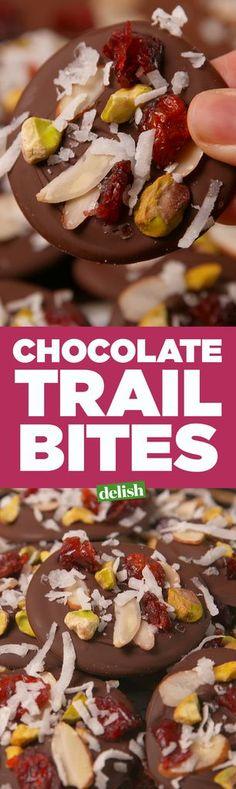 Chocolate Trail Bites  - Delish.com