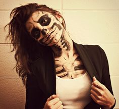Skeleton Makeup photography