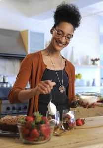 """Top Chef"" alum Carla Hall dished on hosting ABC's talk show ""The Chew,"" with chefs Michael Symon and Mario Batali, fashion expert Clinton Kelly and author Daphne Oz."