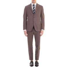 Lardini - Brown checks cotton blend suit