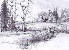beautiful pencil drawings of nature beautiful sketches of nature - nature sketch pictures Easy Pencil Drawings, Beautiful Pencil Drawings, Pencil Drawings Of Nature, Landscape Pencil Drawings, Landscape Sketch, Beautiful Sketches, Nature Drawing, Pencil Shading Scenery, Drawing Scenery