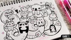 Kawaii Animals - Hello Doodles - Easy and Kawaii Drawings by Garbi KW