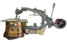 antique sewing machine by louisa