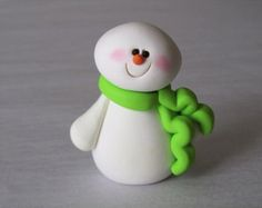 Polymer Clay Christmas Snowman