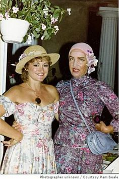 """""""Little Edie"""" Beale, right, is shown in a 1981 photograph with Pam Beale, the now former wife of Chris Beale, son of Edie's brother, Bouvier..."""