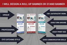 design Roll up banner and any Outdoor  Poster by nasmutdesigns