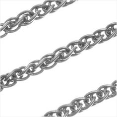 Antiqued Silver Plated Double Curb Rope Chain 3mm Bulk By The Foot