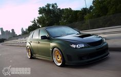 matte green and gold