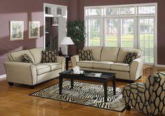 We love this set! #sofa #rug #POPOFCOLOR #mhf