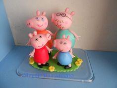 TOPO FAMILIA PEPPA PIG EM BISCUIT