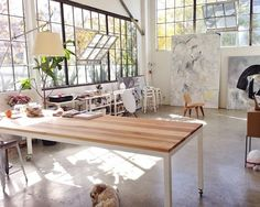 airy studio space filled with sunlight #getguilded
