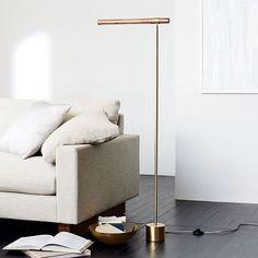 Linear Wood LED Floor Lamp #westelm