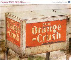 SALE CIJ Orange Crush Photo -  Vintage Pop Cooler - 8 x 10  Photography