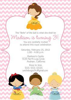 Princess Birthday Party  Printable DIY  Includes by SwishDesigns, $40.00