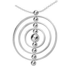 Aarikka - Silver jewelry : Galaksi necklace. Designer: Kaija Aarikka (2014)