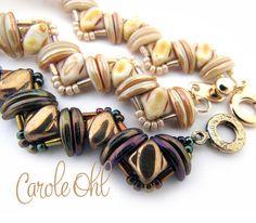 Bundled Silk Bracelet Tutorial by Carole Ohl by openseed on Etsy https://www.etsy.com/listing/293100747/bundled-silk-bracelet-tutorial-by-carole