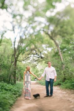 Love her dress!  Photography by awakeyoursoul.com  Read more - http://www.stylemepretty.com/2013/06/05/austin-engagement-shoot-from-awake-photography/