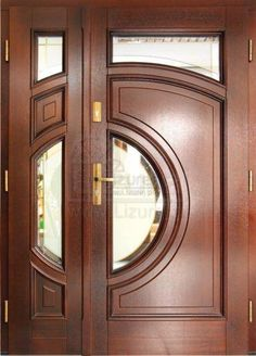 I love simple and pretty front doors. In a couple months when the weather warms up, we are replacing our front door and . Doors, Exterior Doors, Door Design Wood, Wooden Door Design, Wood Doors Interior, Door Design Interior, Door Gate Design, Doors Interior