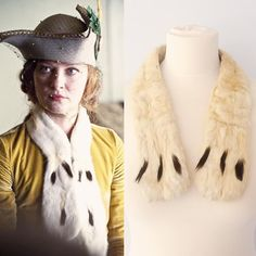 Gretchen Mol as Gillian Darmody looked great in Boardwalk Empire. Get her look with our vintage ermine scarf