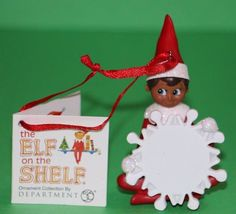 Dept. 56 African American Boy Elf on the Shelf snowflake ornament New 4045001 #babescollectibles