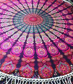 Hello Love Roundie Mandala with Fringe