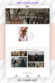 Alatsi A WordPress Photography Theme. This theme is an aesthetically feminine and delicate and highly visually stimulating designed for creative photographers, freelancers and other creative professionals that want a stylish yet business-like theme to house their portfolio, blog, and online store. It is everything you need to build an effective and gorgeous online presence with a matter of minutes. Photography Themes, Photography Templates, Photography Website, Web Themes, Website Themes, Custom Website Design, Best Web Design, Wordpress Template, Premium Wordpress Themes