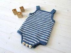 Crochet Simple Striped Baby Romper / Onesie Written Pattern