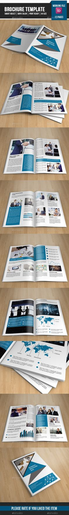 Corporate Brochure Template Design #brochure Download: http://graphicriver.net/item/corporate-brochure-templatev246/11453839?ref=ksioks