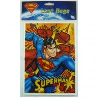 Superman Loot Bags Pkt8 $3.95 A069971 Wholesale Party Supplies, Dc Comics Superheroes, Printed Balloons, Loot Bags, Superhero Party, Treat Bags, Superman, Lol, Goodie Bags