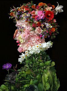 photographer Klaus Enrique Gerdes creates a series of portraits made of fruits, flowers, and vegetables