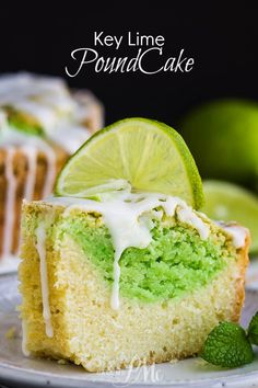 Key Lime Coconut Marbled Pound Cake with Jello is an easy & refreshing cake with plenty of zippy lime and coconut flavor. Mini Desserts, Easy Desserts, Delicious Desserts, Dessert Recipes, Plated Desserts, Key Lime Pound Cake, Sour Cream Pound Cake, Coconut Pound Cakes, Pound Cake Recipes