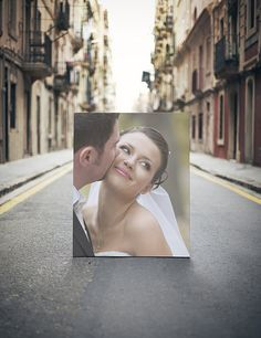 Your Wedding Photographs and Vows on Canvas Photo or by ClavinInc