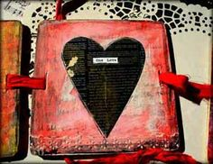 """""""The Heart of Art"""" by: Judi Kauffman & Jodi Ohl for LuminArte - image 4 -for Scrapbooking.com February 2013 issue"""