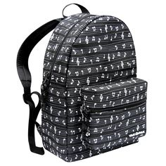 - Cute Music Note Backpack! #music #style #backpack http://www.pinterest.com/TheHitman14/music-paraphernalia/