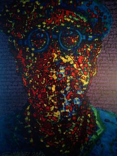 "Contemporary Art : ""Tribute to Chuck Close"" by Gios Manakel, via Behance"