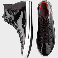 Black Patent Leather High Top Tennis Shoes Men's Casual Shoes Converse | Men's Wearhouse