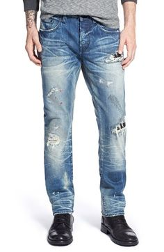 PRPS 'Anda Demon' Slim Straight Leg Jeans (Enzyme) available at #Nordstrom