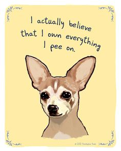 Chihuahua 8x10 Print of Original Painting with by tinyconfessions