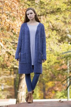 Free Pattern Friday - Penelope's Cardigan knit in Universal Yarn Deluxe Bulky Superwash