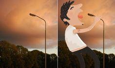 Intervenções digitais da ilustradora holandesa Tineke Meirink