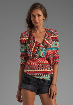 BCBGMAXAZRIA Printed Jacket in Saffron Combo at Revolve Clothing - Free Shipping!