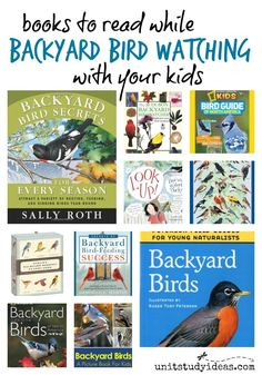 Books to Read while Backyard Bird Watching with your Kids @ UnitStudyIdeas.com